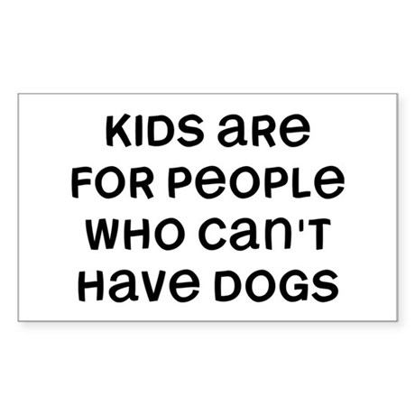 Kids Dogs Sticker (Rectangle)