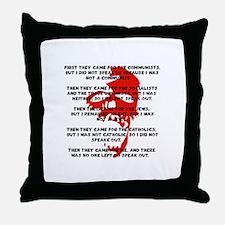 human rights apathy Throw Pillow