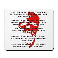 human rights apathy Mousepad