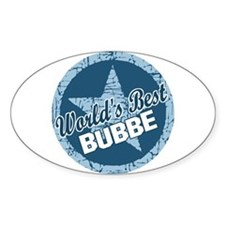 Worlds Best Bubbe Oval Decal