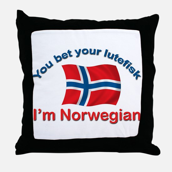 Norwegian Lutefisk Throw Pillow