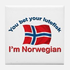 Norwegian Lutefisk Tile Coaster