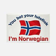 Norwegian Lutefisk Rectangle Magnet