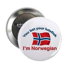 "Norwegian Lutefisk 2.25"" Button (10 pack)"