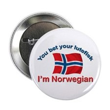"Norwegian Lutefisk 2.25"" Button"
