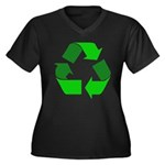 Recycle Environment Symbol (Front) Women's Plus Si