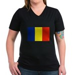 Armenia Flag Women's V-Neck Dark T-Shirt