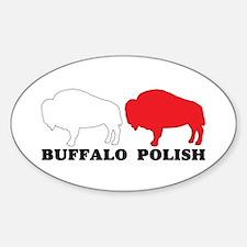 Buffalo Polish Oval Decal