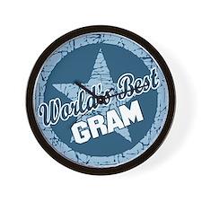 Worlds Best Gram Wall Clock