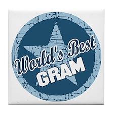 Worlds Best Gram Tile Coaster