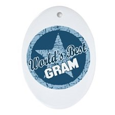 Worlds Best Gram Oval Ornament