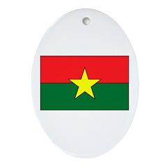 Burkina Faso Oval Ornament