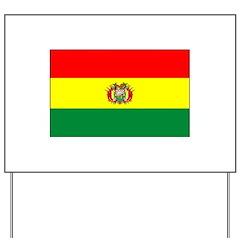 Bolivian Flag Yard Sign