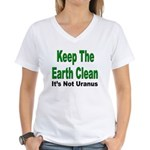 Keep the Earth Clean Women's V-Neck T-Shirt