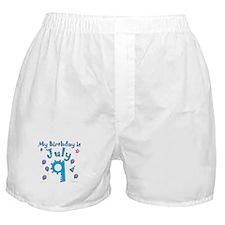 July 9th Birthday Boxer Shorts