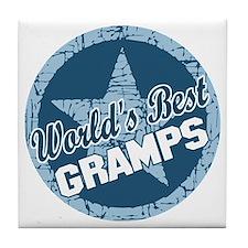 Worlds Best Gramps Tile Coaster