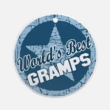 Worlds Best Gramps Ornament (Round)