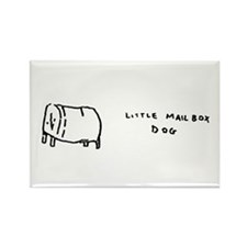 """little mailbox dog"" Rectangle Magnet"