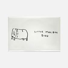 """little mailbox dog"" Rectangle Magnet"