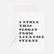 Sterne Slogan Greeting Card