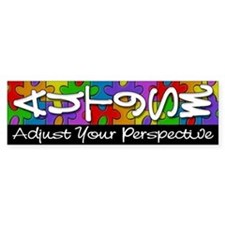 Adjust Your Perspective Bumper Car Sticker