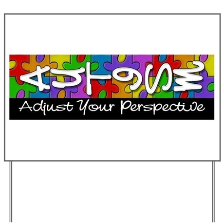Adjust Your Perspective Yard Sign