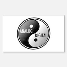 Analog vs Digital Rectangle Decal