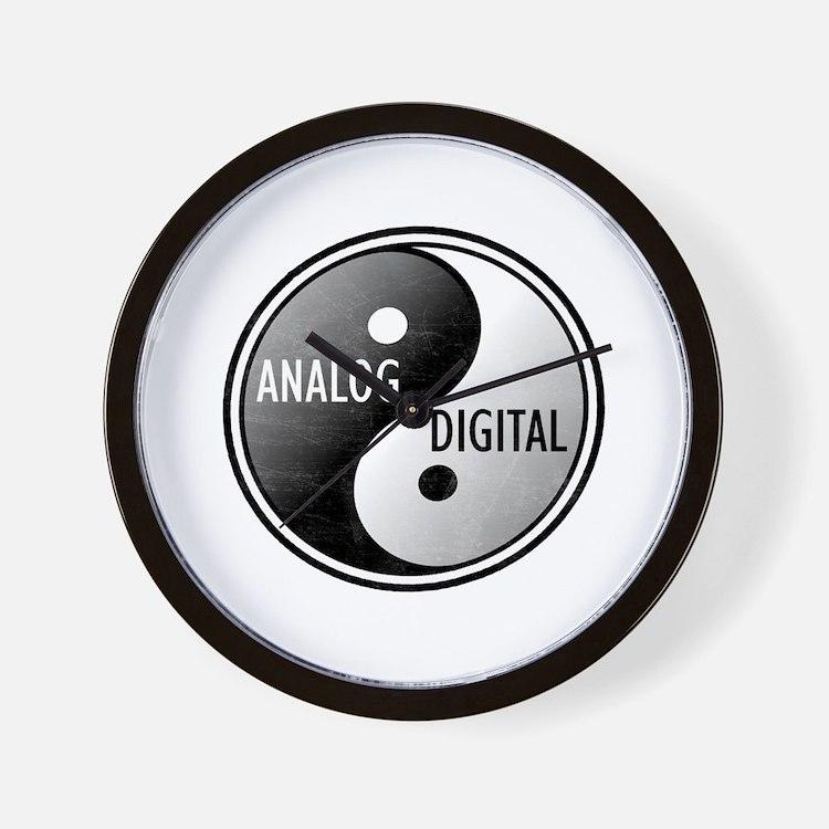 Analog vs Digital Wall Clock