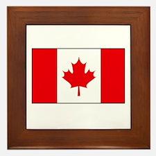 Canadian Flag Framed Tile