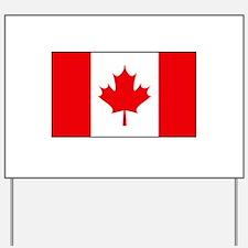Canadian Flag Yard Sign