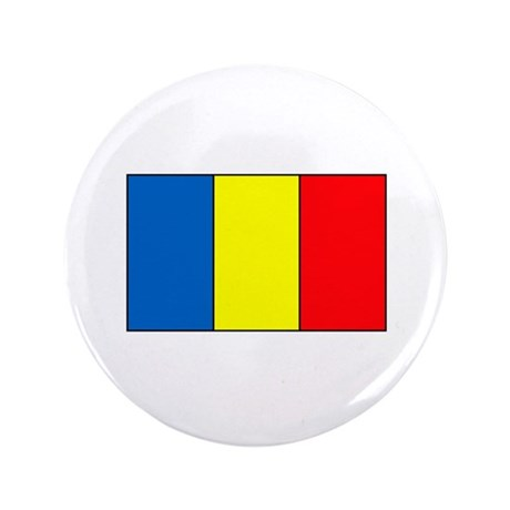 "Chadian Flag 3.5"" Button"