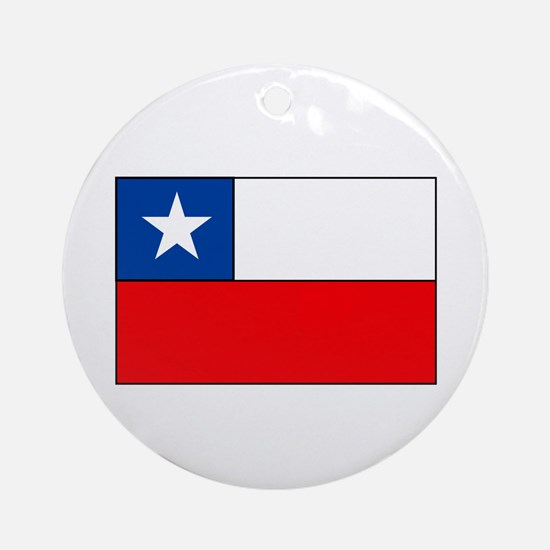 Chilean Flag Ornament (Round)