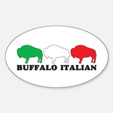 BUFFALO ITALIAN Oval Decal