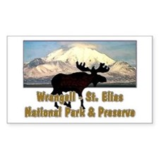Wrangell - St. Elias National Rectangle Decal