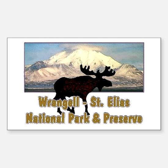 Wrangell - St. Elias National Rectangle Decal