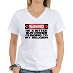 Warning Women's V-Neck T-Shirt