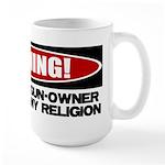 Warning Large Mug
