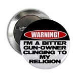 """Warning 2.25"""" Button (10 pack)"""