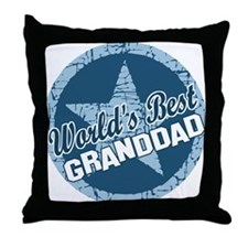 Worlds Best Granddad Throw Pillow