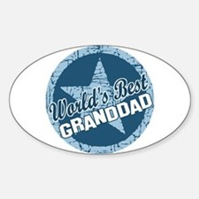 Worlds Best Granddad Oval Decal