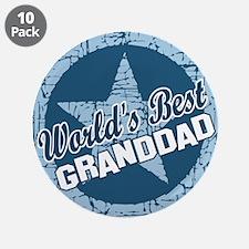 """Worlds Best Granddad 3.5"""" Button (10 pack)"""