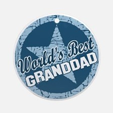 Worlds Best Granddad Ornament (Round)