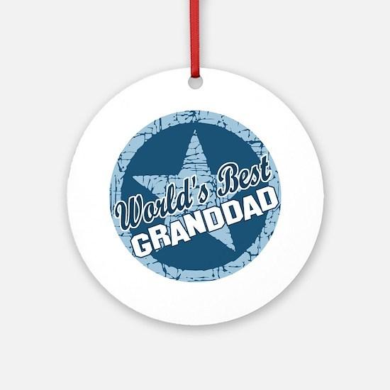 Worlds Best Granddad Ornament (Round)