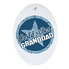 Worlds Best Granddad Oval Ornament