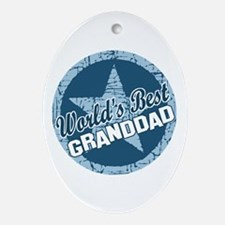 Worlds Best Granddad Oval Ornament
