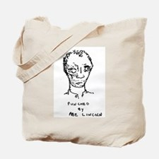 """""""Punched By Abe Lincoln"""" Tote Bag"""