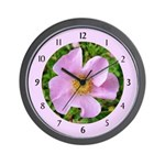 California Wild Rose Wall Clock