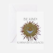 Karma Sun Face Greeting Card