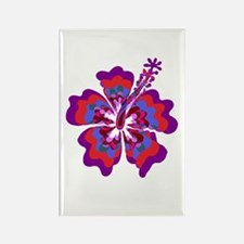 Psychedelic Hibiscus Rectangle Magnet