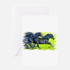 Unique Horse soccer Greeting Card
